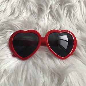 Accessories - Lolita Inspired Heart Shaped Sunglasses.